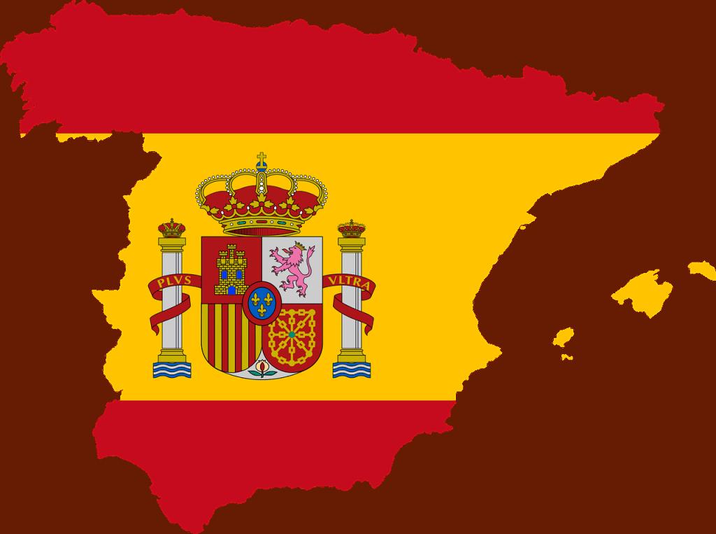 Spanish Flag in the shape of Spain